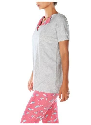 Doremi Pluto Pijama Takımı Gri